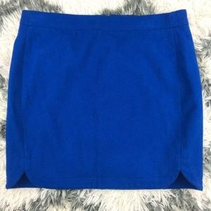 J. Crew Womens Wool Skirt Size 4 royal blue mini